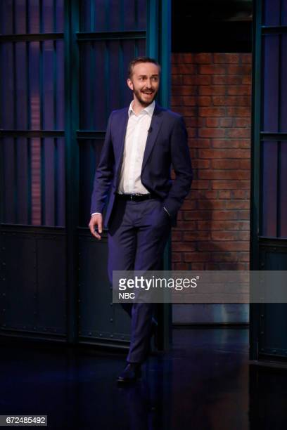 German talk show host Jan Böhmermann arrives on April 24 2017
