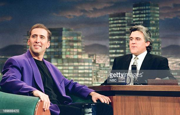 Actor Nicolas Cage during an interview with host Jay Leno on August 11 1994