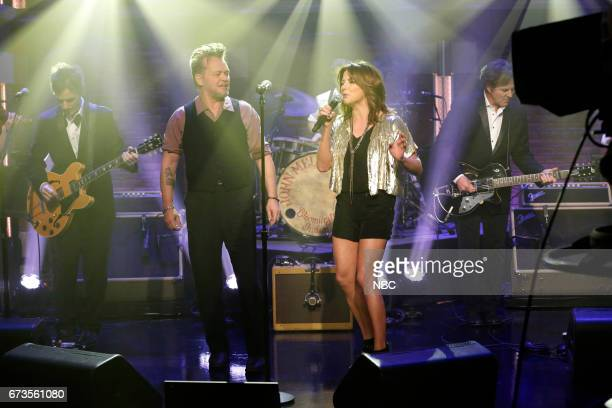 Musical guest John Mellencamp performs with Martina McBride on April 26 2017