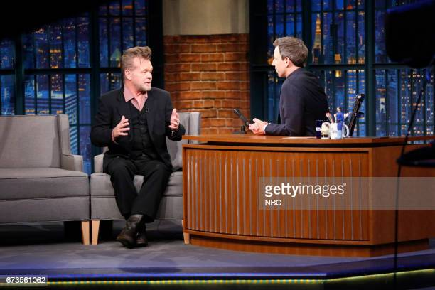 Singer John Mellencamp during an interview with host Seth Meyers on April 26 2017