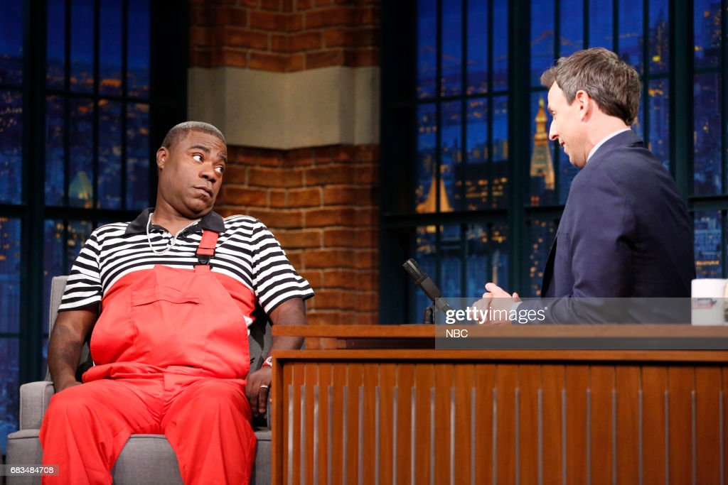 Comedian Tracy Morgan during an interview with host Seth Meyers on May 15, 2017 --