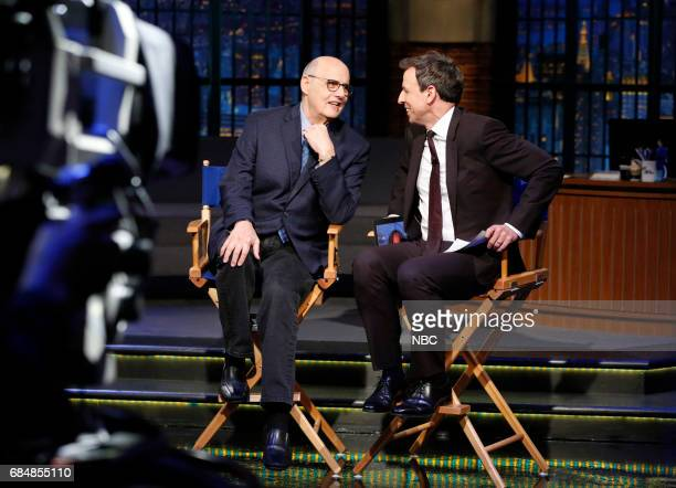 Comedian Jeffrey Tambor during an intervier with host Seth Meyers during the Facebook Live segment on May 18 2017