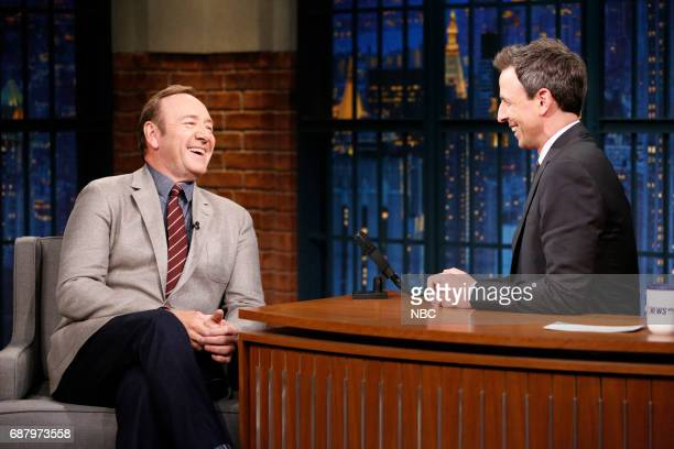 Actor Kevin Spacey talks with host Seth Meyers during an interview on May 24 2017