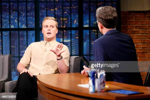 Actor John Early talks with host Seth Meyers during an interview on June 6 2017