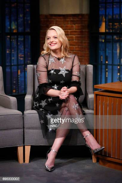 Actress Elisabeth Moss during an interview on June 12 2017
