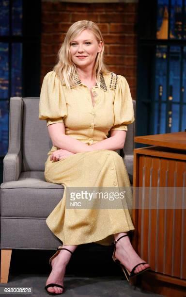 Actress Kirsten Dunst during an interview on June 19 2017