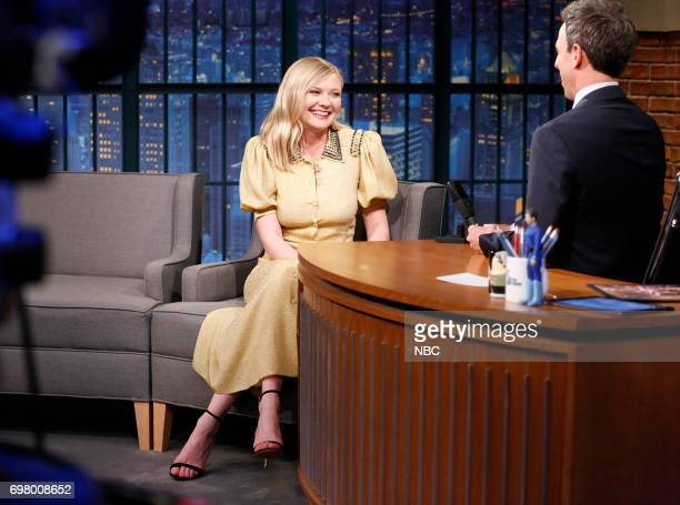 Actress Kirsten Dunst during an interview with host Seth Meyers on June 19 2017