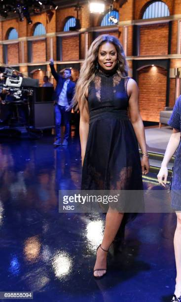 Actress Laverne Cox walks offstage on June 20 2017
