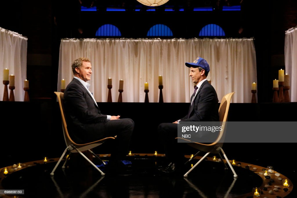 Comedian Will Ferrell during a segment with host Seth Meyers on June 20, 2017 --