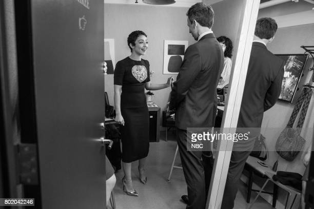 MEYERS Episode 548 Pictured Actress Ruth Negga talks with host Seth Meyers during the on June 26 2017