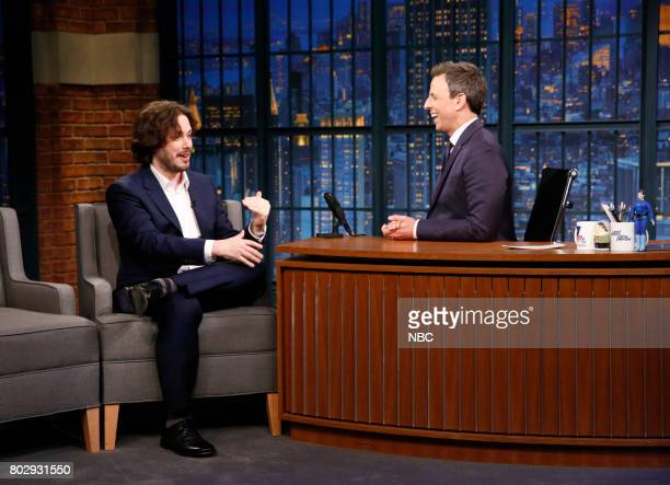 Director Edgar Wright during an interview with host Seth Meyers on June 28 2017