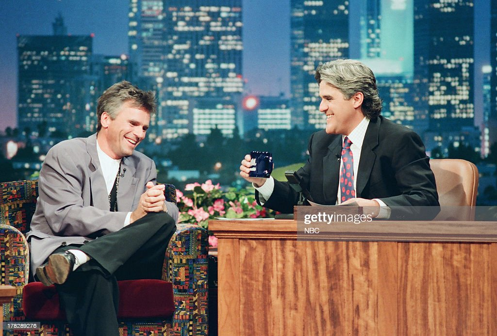 Actor <a gi-track='captionPersonalityLinkClicked' href=/galleries/search?phrase=Richard+Dean+Anderson+-+Actor&family=editorial&specificpeople=5221192 ng-click='$event.stopPropagation()'>Richard Dean Anderson</a> during an interview with host Jay Leno on October 10, 1994 --
