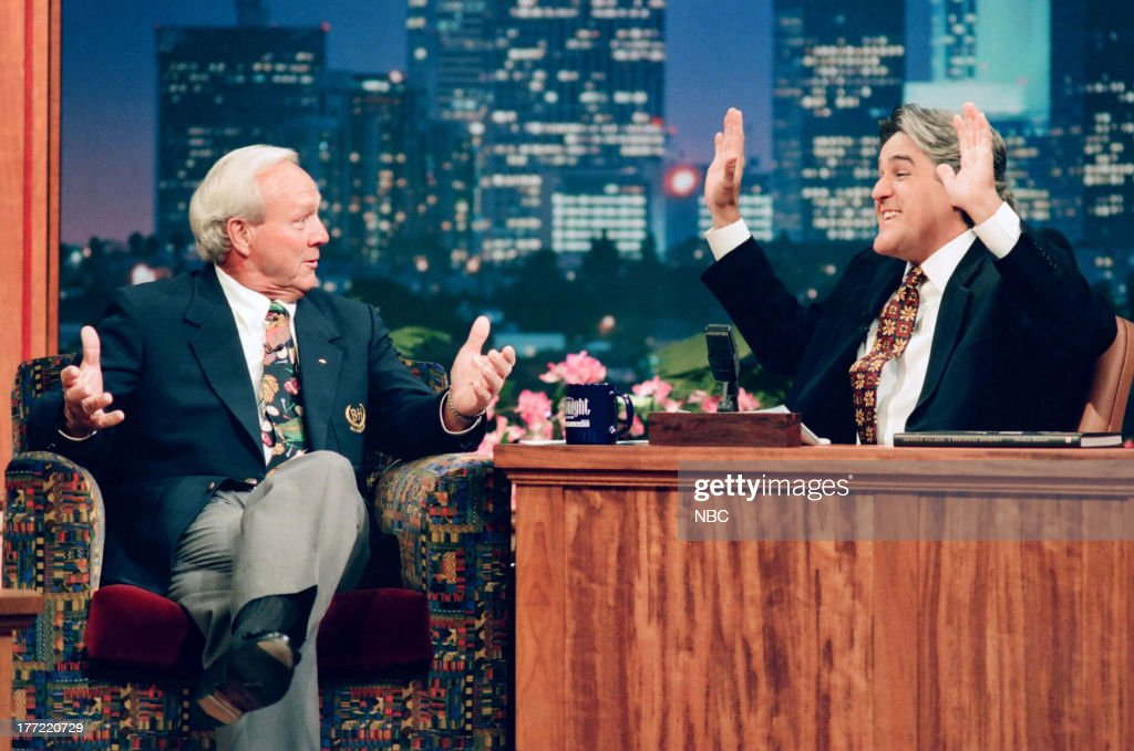Golfer Arnold Palmer during an interview with host Jay Leno on October 11, 1994 --