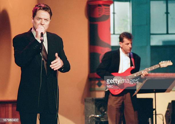 Musical guest Robert Palmer performs on
