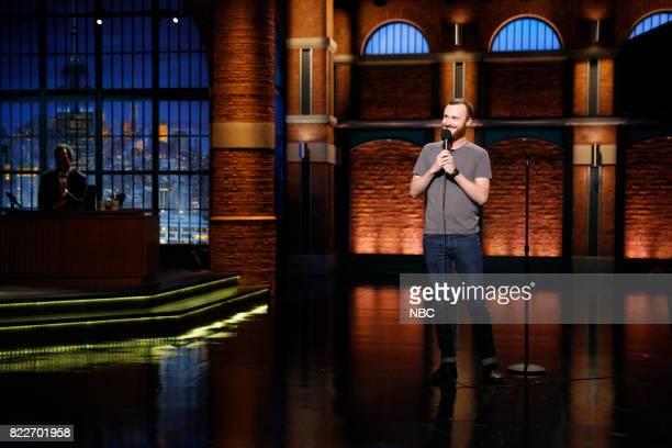 Comedian Ahamed Weinberg performs on July 25 2017