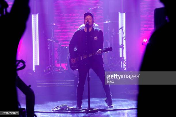 Patrick Stump of musical guest Fall Out Boy performs on July 26 2017