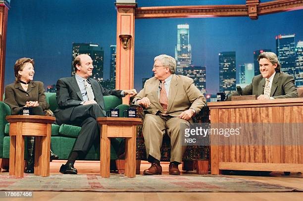 Actress Annette Bening Film Critics Gene Siskel Roger Ebert during an interview with host Jay Leno on October 20 1994