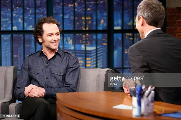 Actor Matthew Rhy talks with host Seth Meyers during an interview on July 31 2017