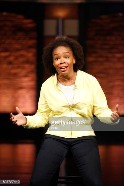Writer Amber Ruffin during the 'Amber Said What' sketch on August 2 2017