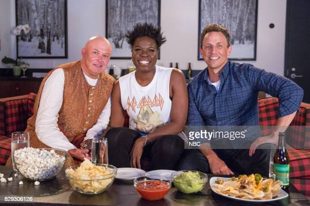 Conleth Hill Leslie Jones Seth Meyers during 'Game of Jones' sketch on August 9 2017