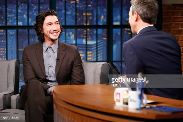 Actor Adam Driver during an interview with host Seth Meyers on August 15 2017