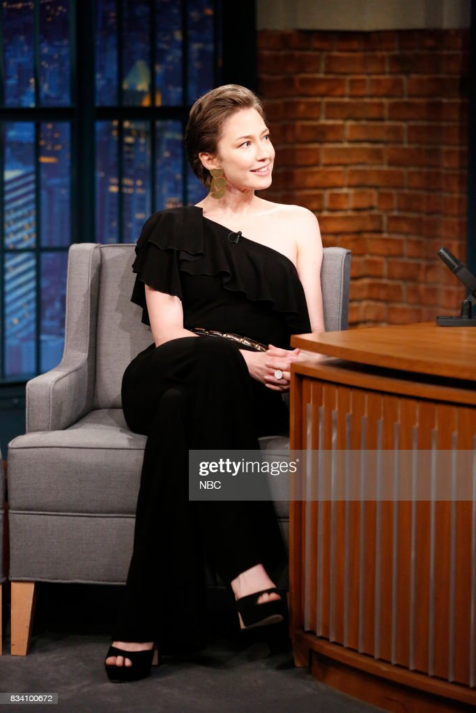 Actress Carrie Coon during an interview on August 17, 2017 --