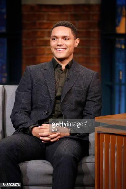 "Host of ""The Daily Show"" Trevor Noah during an interview on September 6 2017"