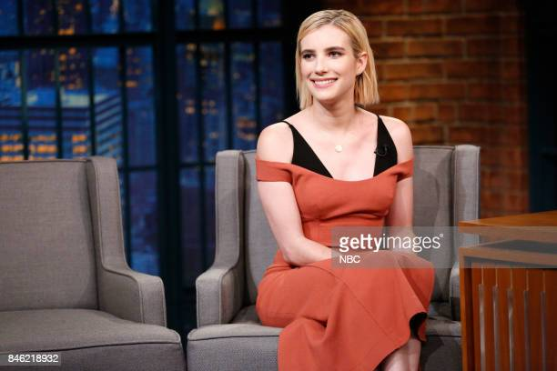 Actress Emma Roberts during an interview on September 12 2017