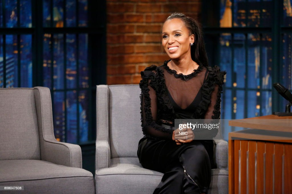 Actress Kerry Washington during an interview on October 5, 2017 --