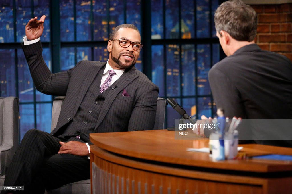 Musician Clifford 'Method Man' Smith during n interview with host Seth Meyers on October 5, 2017 --