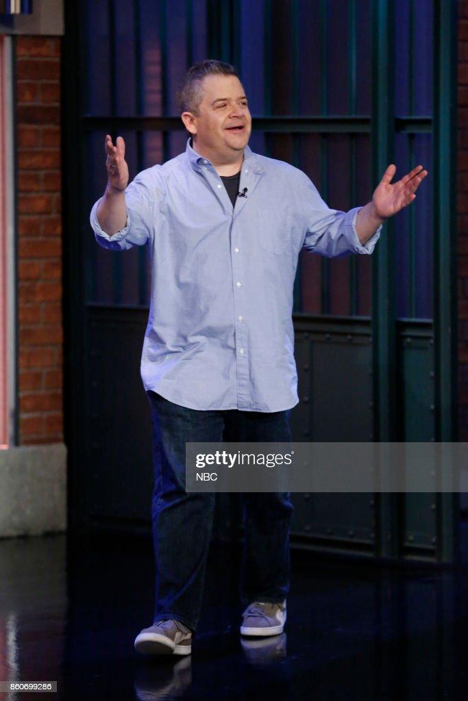 Comedian Patton Oswalt arrives on October 12, 2017 --