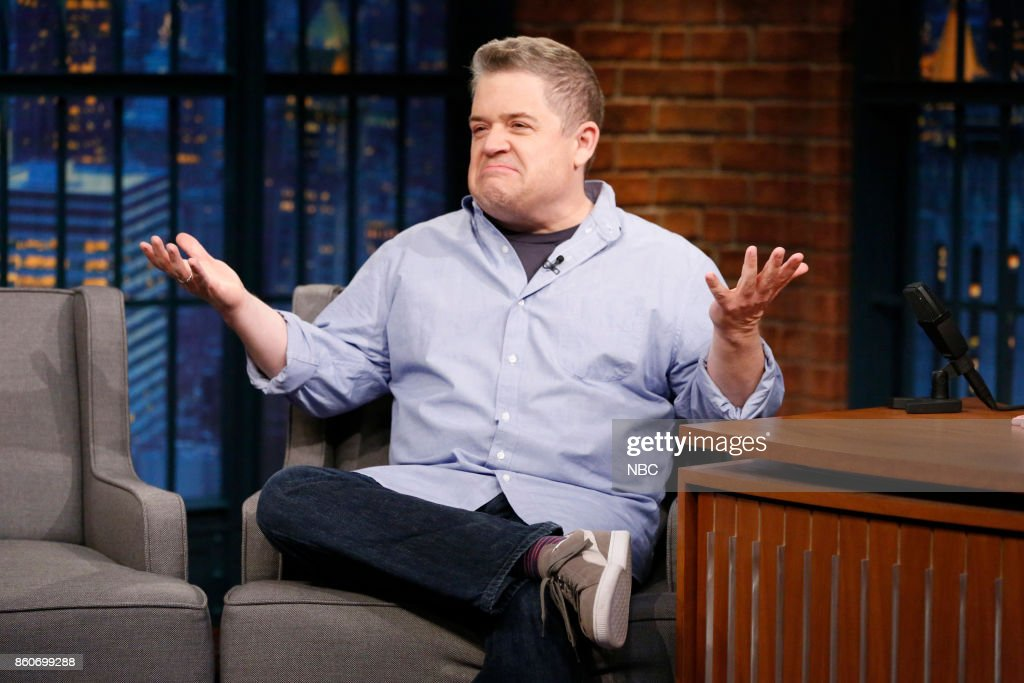 Comedian Patton Oswalt during an interview on October 12, 2017 --