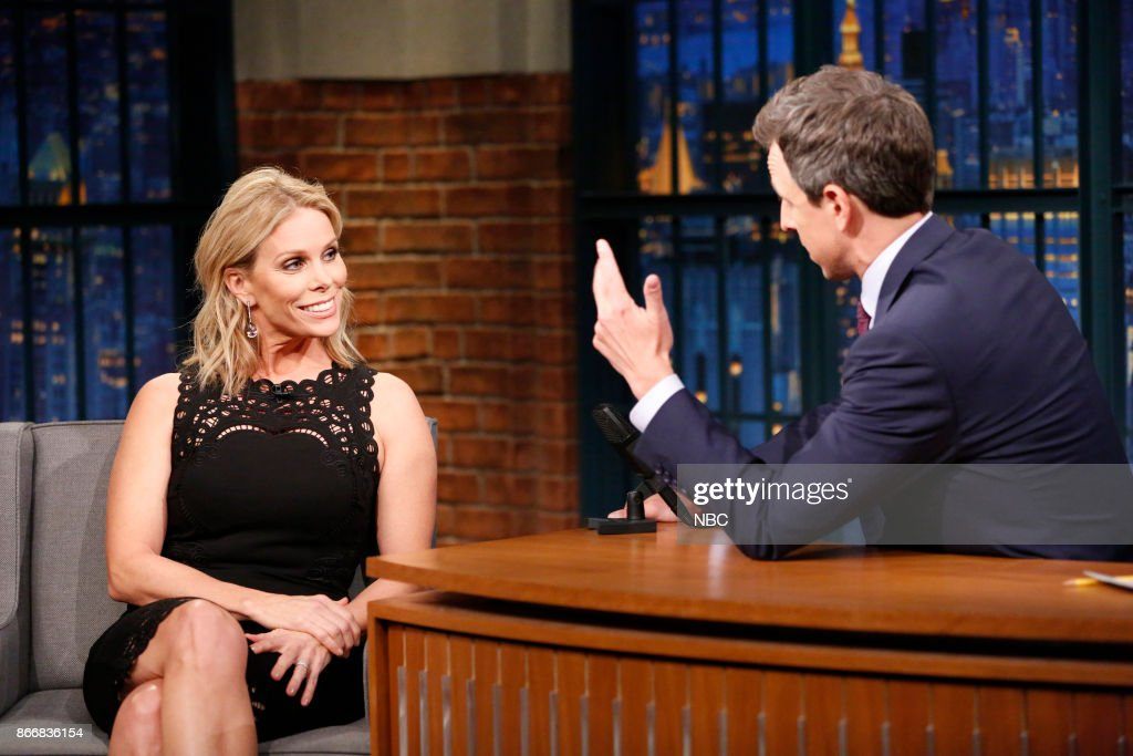 Actress Cheryl Hines during an interview with host Seth Meyers on October 26, 2017 --