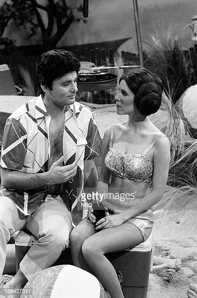 LIVE Episode 6 Air Date Pictured Bill Murray as Frankie Avalon Carrie Fisher as Princess Leia during 'Beach Blanket Bimbo from Outer Space' skit on...