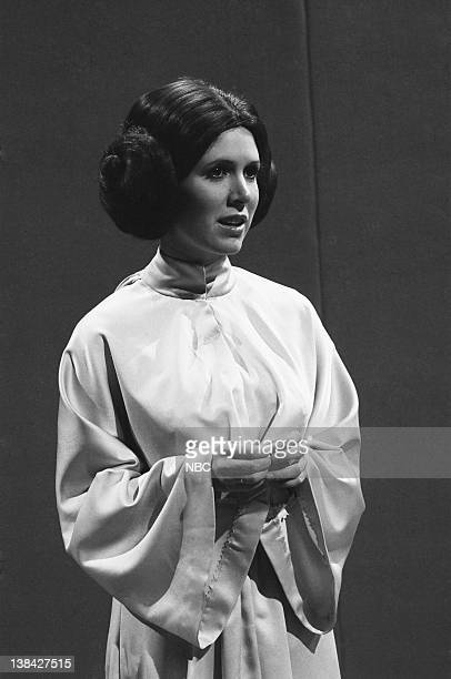LIVE Episode 6 Air Date Pictured Carrie Fisher as Princess Leia during the monologue on November 18 1978