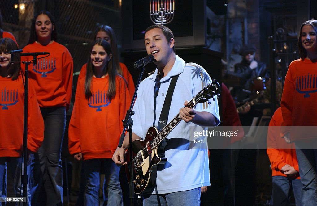 LIVE Episode 6 Aired Pictured Adam Sandler during 'The Chanukah Song' skit on November 16 2002