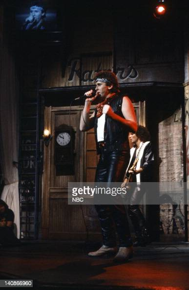 Mike Reno of musical guest Loverboy performs on November 19 1983
