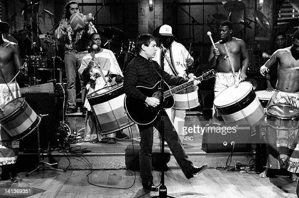 Musical guest Paul Simon performs on November 17 1990 Photo by Raymond Bonar/NBCU Photo Bank