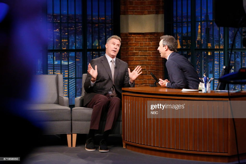 Actor Will Ferrell during an interview with host Seth Meyers on November 8, 2017 --