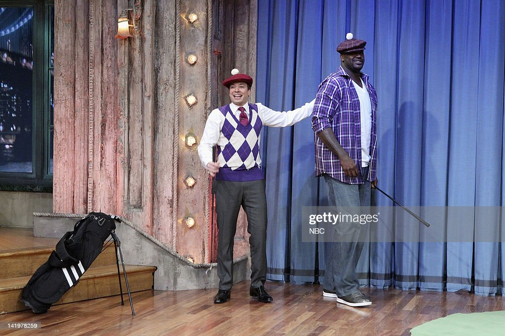 Jimmy Fallon, <a gi-track='captionPersonalityLinkClicked' href=/galleries/search?phrase=Shaquille+O%27Neal&family=editorial&specificpeople=201463 ng-click='$event.stopPropagation()'>Shaquille O'Neal</a> --