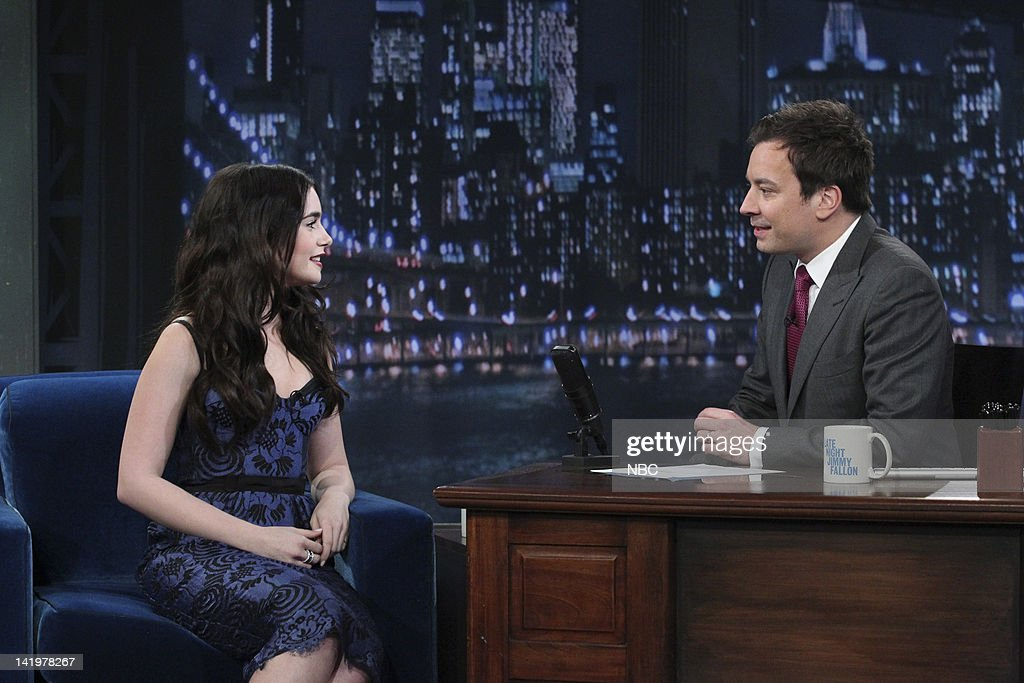<a gi-track='captionPersonalityLinkClicked' href=/galleries/search?phrase=Lily+Collins&family=editorial&specificpeople=3520243 ng-click='$event.stopPropagation()'>Lily Collins</a>, <a gi-track='captionPersonalityLinkClicked' href=/galleries/search?phrase=Jimmy+Fallon&family=editorial&specificpeople=171520 ng-click='$event.stopPropagation()'>Jimmy Fallon</a> --