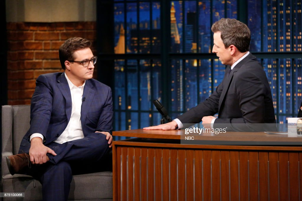 "NBC's ""Late Night With Seth Meyers"" With Guests Chris Hayes, Kristin Scott Thomas, Alex Lahey"