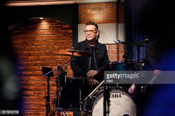 Drummer Fred Armisen of The 8G Band performs on November 22 2017