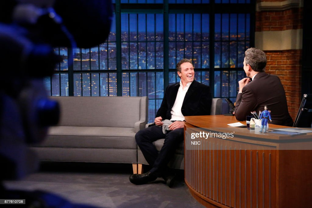 "NBC's ""Late Night With Seth Meyers"" With Guests Chris Cuomo, Tim Meadows, Kenny DeForest"