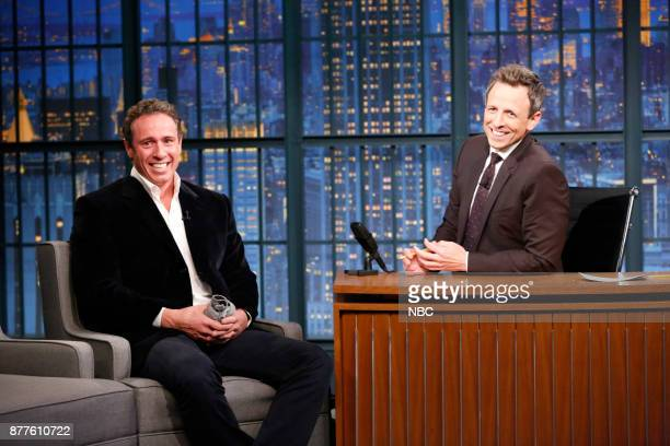 Journalist Chris Cuomo during an interview with host Seth Meyers on November 22 2017