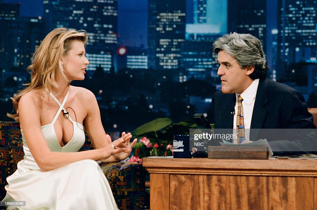 Model Daniela Pestova during an interview with host Jay Leno on February 15, 1995 --