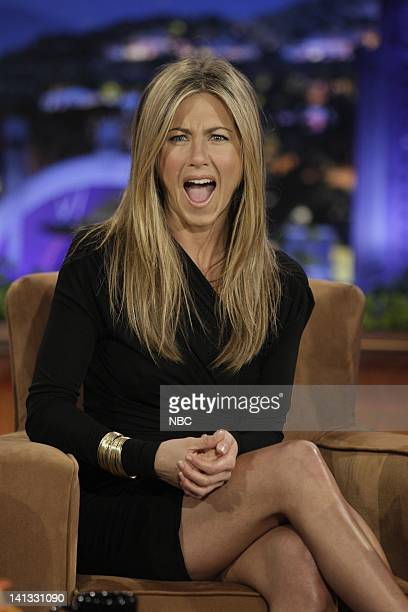 BRIEN Episode 66 Air Date Pictured Actress Jennifer Aniston during an interview on September 15 2009 Photo by Paul Drinkwater/NBCU Photo Bank
