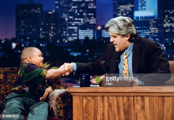Curtis Williams Jr during an interview with host Jay Leno on April 28 1995