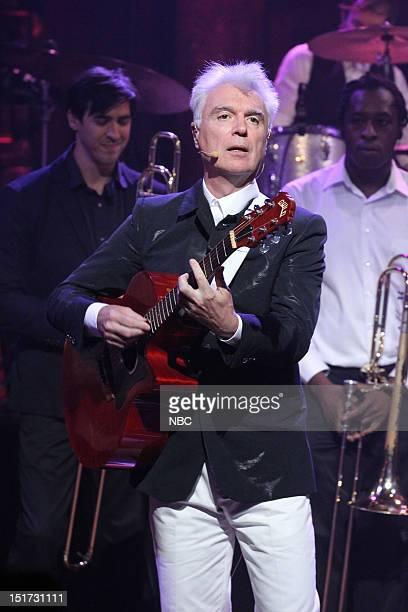 Musical guest David Byrne St Vincent perform on September 10 2012