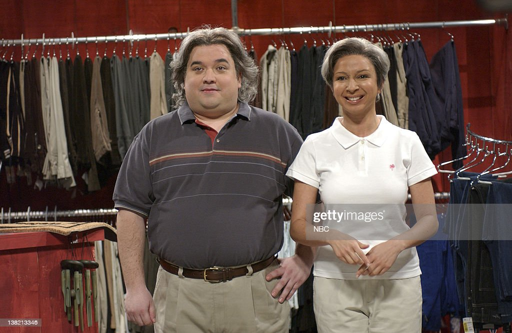 LIVE Episode 7 Aired Pictured Horatio Sanz as Pat Sylviac Maya Rudolph as Patti Sylviac during 'Pat 'N Patti's Slacks Snacks and Knick Knack Shack'...